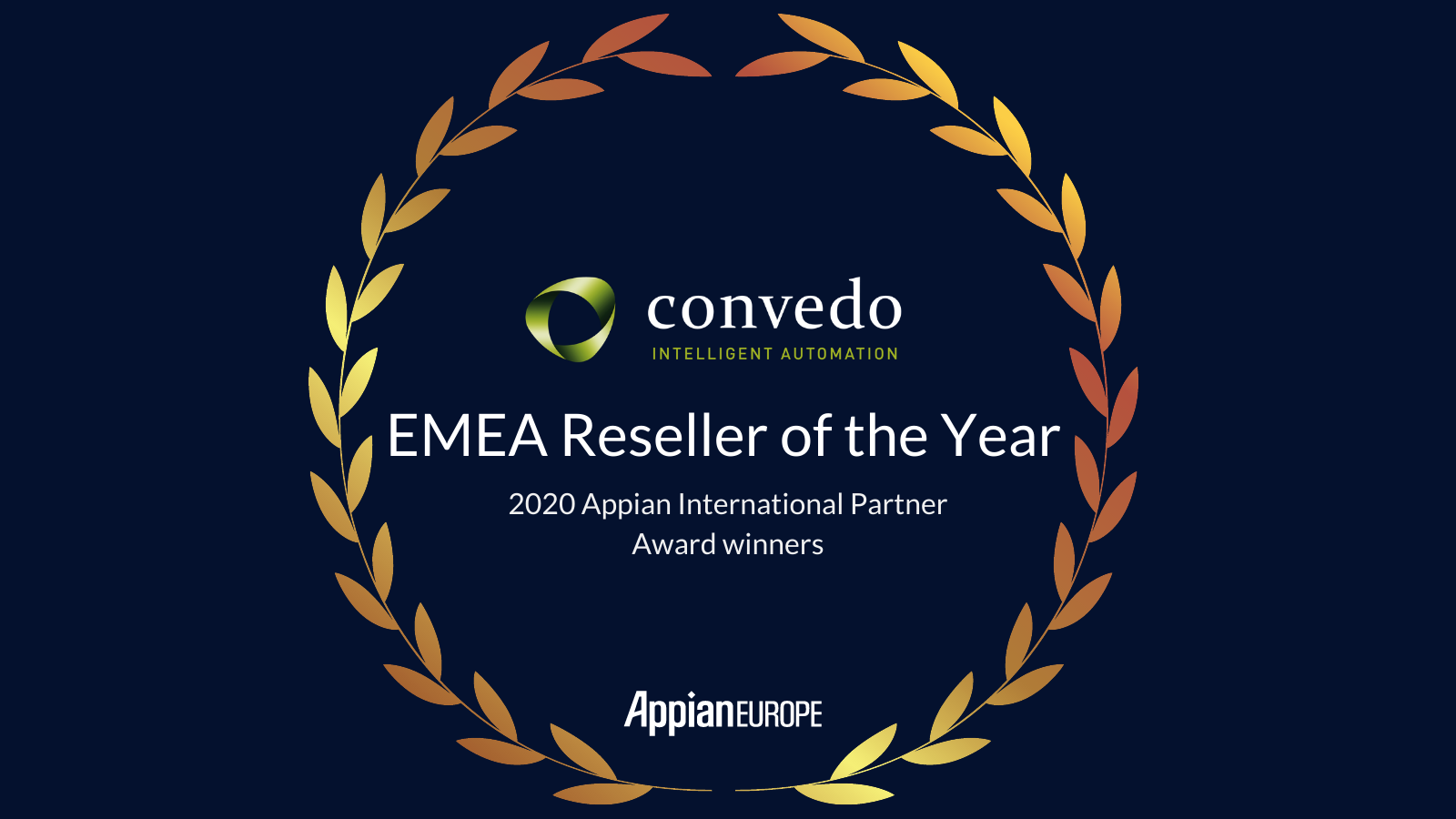 "convedo received the ""Appian International Partner Award"""